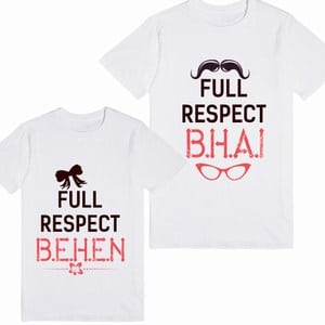 Customised Little Sister and Brother Matching Raksha Bandhan T-Shirt Online India
