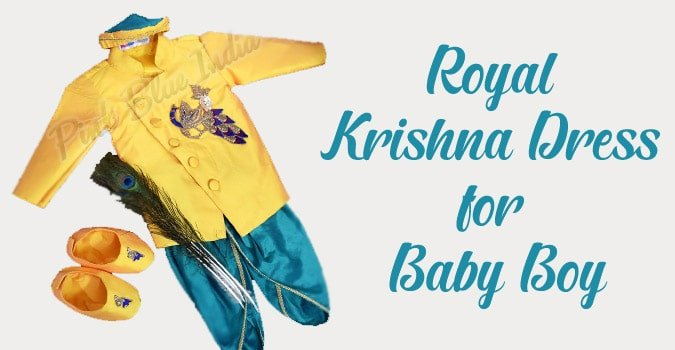 Baby Boy Krishna Dress Online, Kids Janmashtami Outfit, Janmashtami Dress