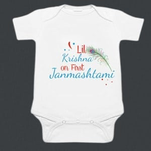 Personalized Little Krishna First Janmashtami Baby Romper