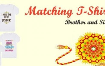 Customised Matching T-Shirts for Brother and Sister on Raksha Bandhan