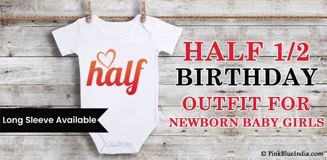 Baby Girl Boy Half Birthday Onesie, Bodysuit