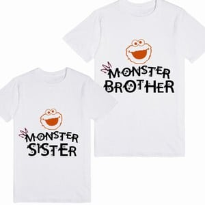 Personalized Matching Monster Little Brother And Little Sister T-shirt