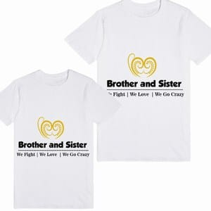 Shop Custom Little Brother and Little Sister T-Shirts
