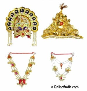 Jewellery and Accessories for little Radha Costume