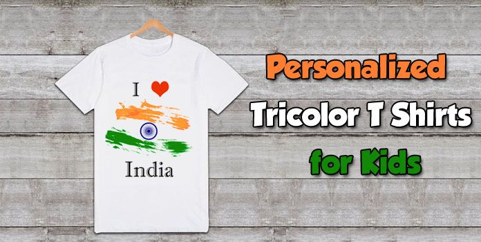 Tricolor T Shirts for Kids - Indian flag color t shirts Boys Girls
