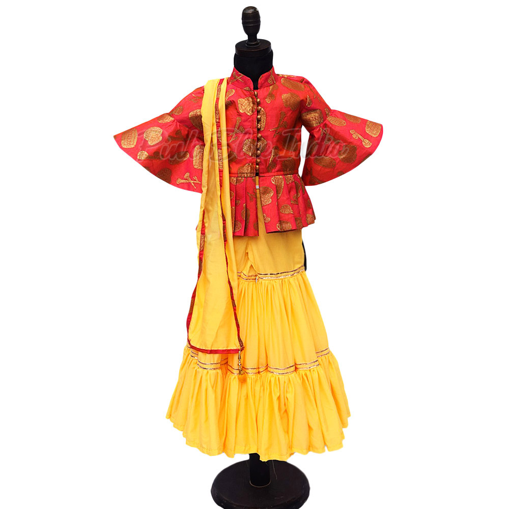 Baby Sharara with Crop Top - baby Festival ethnic wear