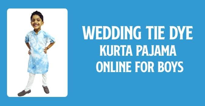 Boys Readymade Kurta Pajama Set, Kids Tie & Dye Kurta Pajama