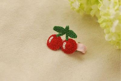 Crochet Flower Girl Hair Clips - Baby Hair Accessories India