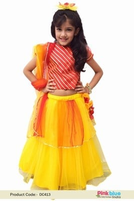 Girls Lehenga Cholis - baby Festival dress