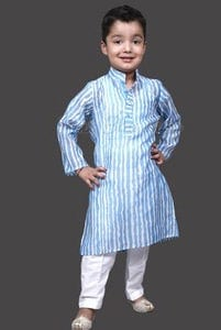 Boys Kurta Pyjama Set, Cotton Kurta Pajama