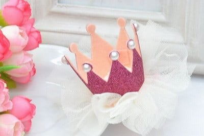 Princess Crown Hair Clips, Crown Princess Hair Accessories Wedding