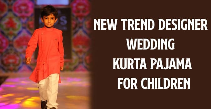 Children Designer Wedding Kurta Pajama