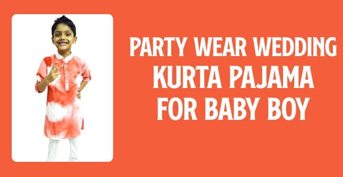 Baby Boy Party Wear Wedding Kurta Pajama