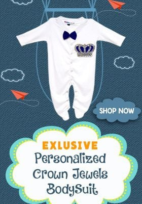 Personalized, Custom Made Baby Boy Shower long sleeve Bodysuit Clothes