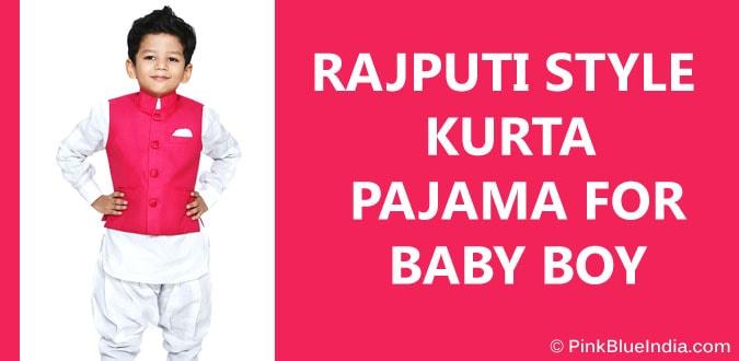 Baby Boy Rajput Style Kurta Pajama