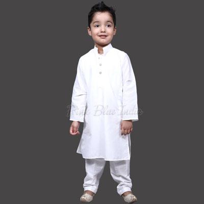 White Kurta Pajama for 1 Year old Boy