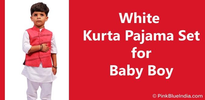 Baby Boy White Kurta Pajama jaipur