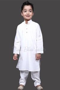 White Kurta Pajama, Kids Cotton Kurta Pajama Online
