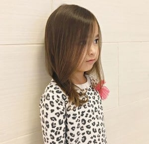 little girl Long Blunt haircut