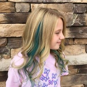 Baby Girl Coloured Streaked Hair styles