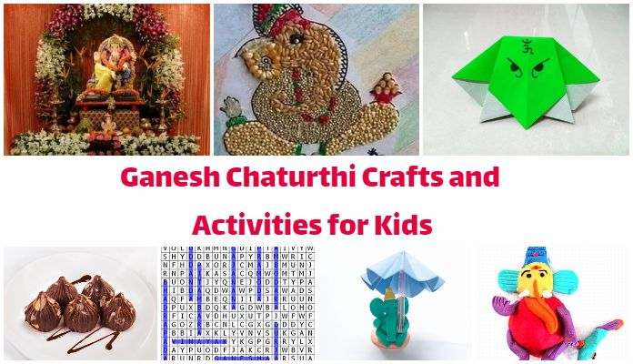 Ganesh Chaturthi Children Crafts, Ganesh Chaturthi Kids Activities India