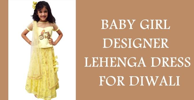 Diwali Baby Girl Lehenga Dresses