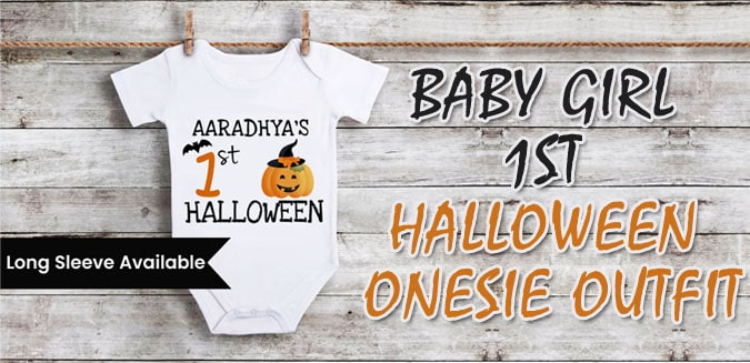 Baby Girl 1st Halloween Onesie Outfit