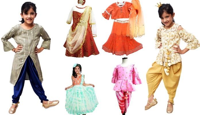 Girls Indo Western Dresses - Kids occasions wear Indo Western gowns