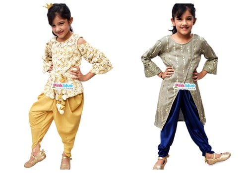 Baby Girl Indo Western Dresses - Engagement Party Indo Western outfit