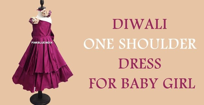 Diwali One Shoulder Baby Girl Dress