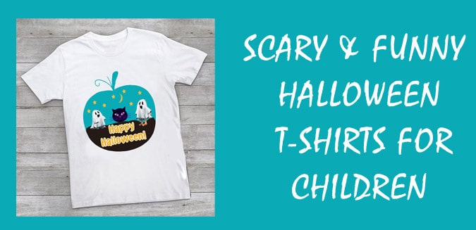 Funny Halloween T-Shirts for Children - Halloween Kids Costume