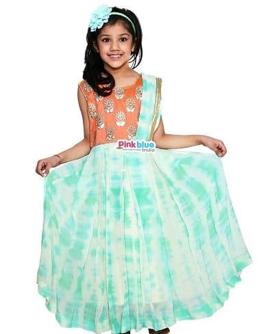 Children Festival Indo Western Outfits - Indian Festival Baby Girl Dress