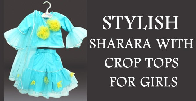 Diwali Baby Girl Crop Tops Sharara