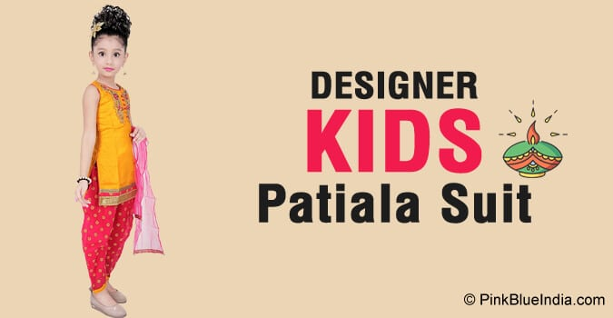 Diwali Special Kids Patiala Suit Designs