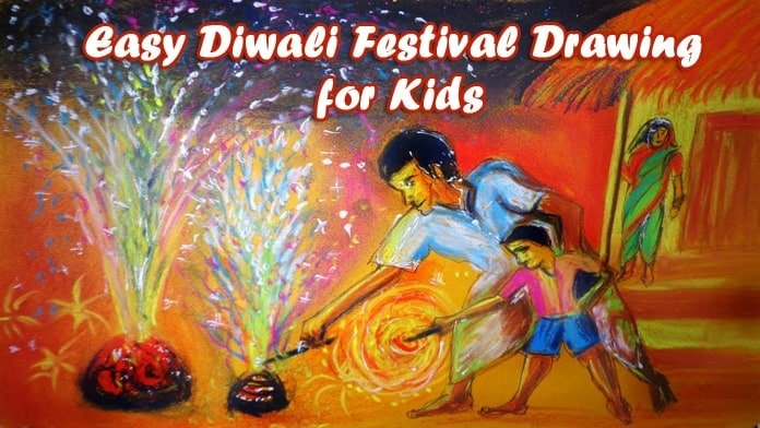 Diwali Festival Drawing for Kids - Diwali baby activities, Diwali drawing ideas