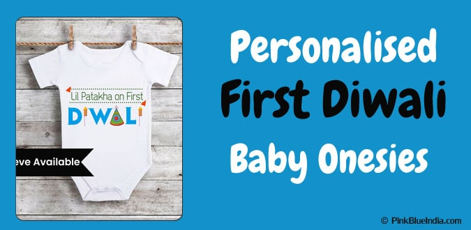 My First Diwali Personalised Baby Onesies -Diwali Newborn Romper