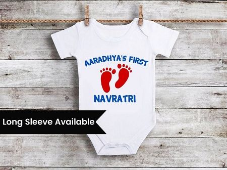 Buy Navratri Onesie, First Navratri Baby Onesies, Customized Romper
