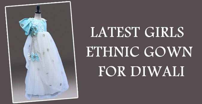 Diwali Girls Ethnic Gown India