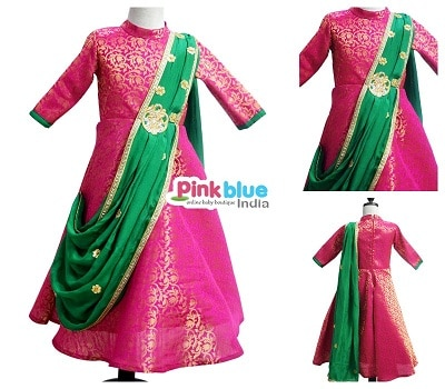 Girls Indo Western Dresses for Indian Wedding - indo western dresses for girl child