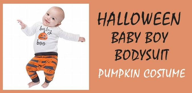 Halloween Baby Boy Romper – Newbon Pumpkin Costume
