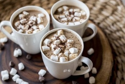 Hot Chocolate with Mini Marshmallows baby Winter Recipe
