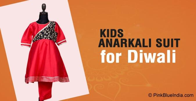 Diwali Kids Anarkali Suit, Girls Anarkali Dress