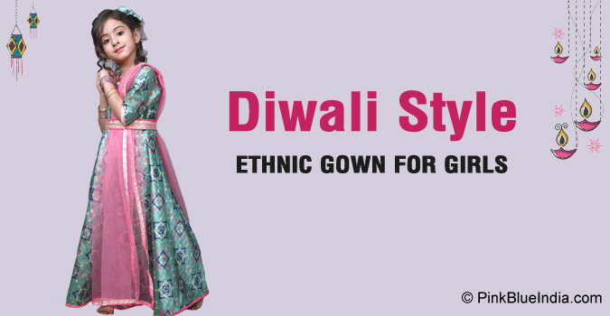 Diwali baby girl Frocks - kids Gowns