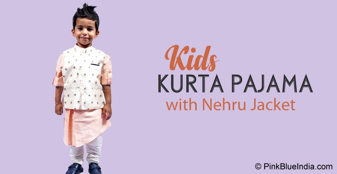 Diwali Kids Kurta Pajama with Nehru Jacket