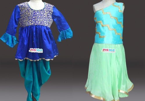 Little Girl Indo-Western Outfits - Mehendi/Dance Party Indo Western kids Clothes