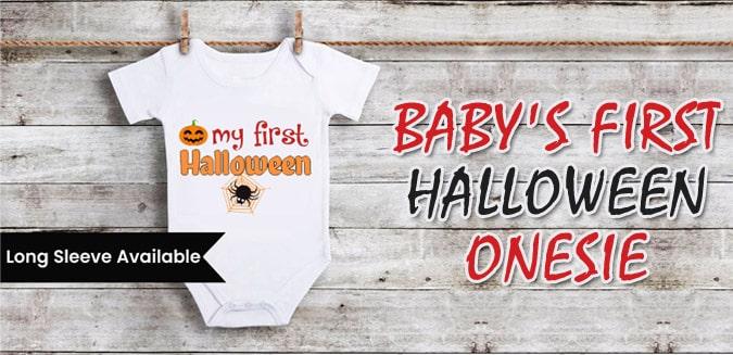 My First Halloween Newborn Onesie - Personalized Halloween Romper