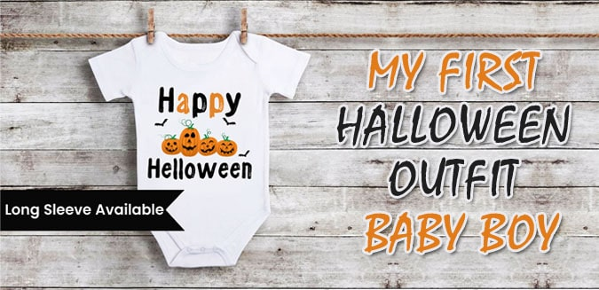 My First Halloween Outfit Baby Boy - Cute 1st Halloween onesie