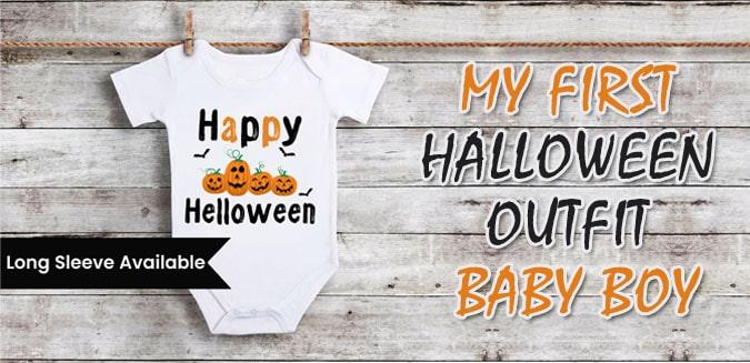 My First Halloween Outfit Boy - 1st Halloween Baby onesie