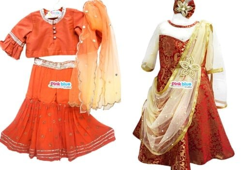 Kids Indo Western Gowns for Wedding Reception - baby girl ethnic wear