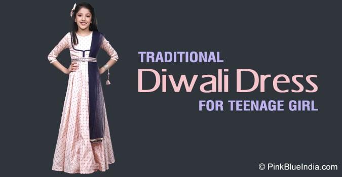 Traditional Diwali Dress for Teenage Girl